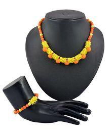 Angel Glitter Bright Like The Sunshine 2 Pieces Jewellery Set - Orange & Yellow