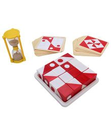 Ratnas Pattern Cube - Red and White