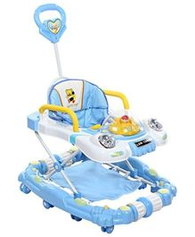 Baby Walker Cum Rocker With Push Handle - Blue
