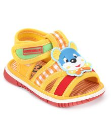 Cute Walk by Babyhug Sandals Animal Motif - Yellow