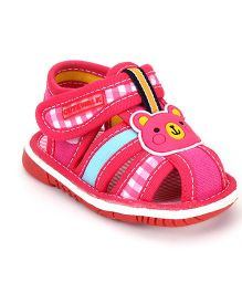 Cute Walk by Babyhug Sandals Bear Design - Fuchsia