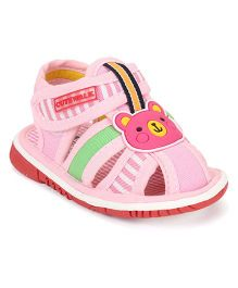 Cute Walk by Babyhug Sandals Bear Design - Pink