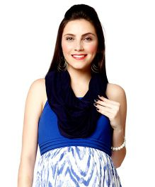 Nine Maternity Magical Scarf Cum Nursing Cover - Navy