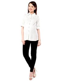Nine Maternity Nursing Shirt  - White