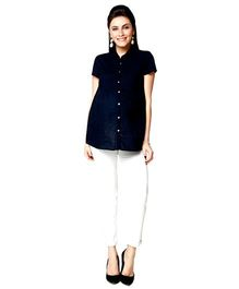 Nine Maternity Formal Shirt - Navy