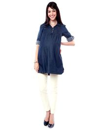 Nine Maternity Denim Tunic - Navy Blue