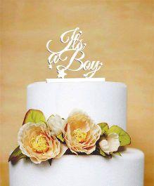 The Joy Factory It'S A Boy Cake Topper - White