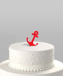 The Joy Factory Anchor Cake Topper - Red