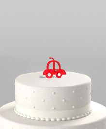 The Joy Factory Car Cake Topper - Red