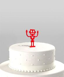 The Joy Factory Robot Cake Topper - Red