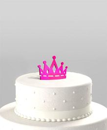The Joy Factory Crown Cake Topper - Pink