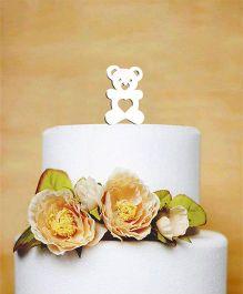 The Joy Factory Teddy Bear Cake Topper - White