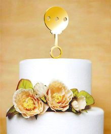 The Joy Factory Rattle Cake Topper - Gold
