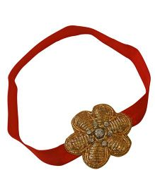 Tiny Closet Flower Headband - Red