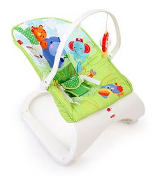 Fisher Price Rainforest Friends Comfort Curve Bouncer - White And Green