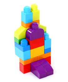 Mega Bloks First Builders 1-2-3 Count 20 Pieces - Multicolor
