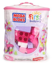 Mega Bloks First Builders Big Building Bag Pink - 80 Pieces