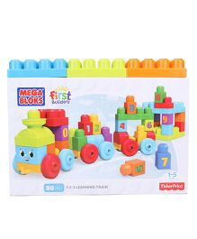 Mega Bloks First Builders 123 Learning Train 50 pieces - Multicolor