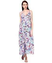 Oxolloxo Sleeveless Floral Maxi Dress - Multi Color