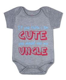 Acute Angle Organic Cotton Cute Print Romper - Red