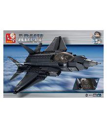 Sluban Lego Lightning II Fighter Aircraft Toys - Navy