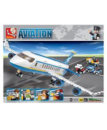 Sluban Lego Airplane Construction Sets - White