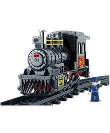Sluban Lego Railway Station Construction Sets - Grey