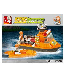 Sluban Lego First Aid Boat Set - Orange
