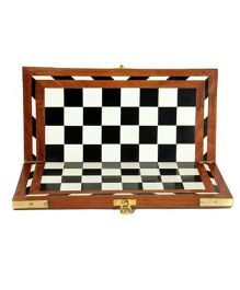 AVM 12 inch Acrylic Folding Wooden Chess Board Without Coins Chess Board
