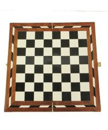 AVM 14 inch Acrylic Folding Wooden Chess Board without Coins Chess Board