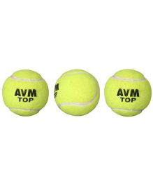 AVM Top Tennis Cricket Ball - Pack of 3