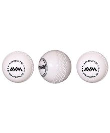 AVM Windball Cricket Ball Pack Of 3 - White
