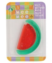 Mee Mee Multi Textured Water Filled Teether Water Melon Shape - Red & Green