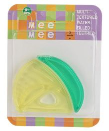 Mee Mee Multi Textured Water Filled Teether - Yellow And Green