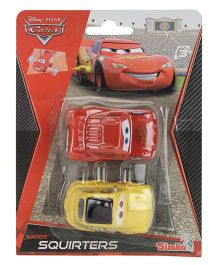 Disney Pixar Cars Water Squirt Toy, Red and Yellow - Pack of 2