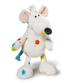 Nici Rat Soft Toy White - 15 cm