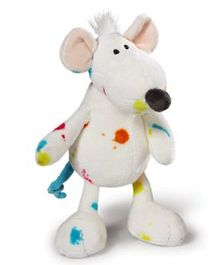 Nici Rat Soft Toy White - 25 cm