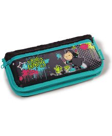 Nici Jolly Leroy Pencil Pouch - Green Black