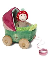 Nici Buggy With Figurine Fly Agaric Pull Along Toy
