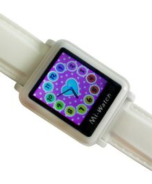 Madsbag Mi Smart Watch For Kids - White & Purple
