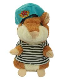 Madsbag Interactive Talking Toy Hamster - Brown