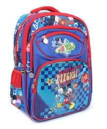 Disney Mickey Mouse School Bag Blue - 17 Inches