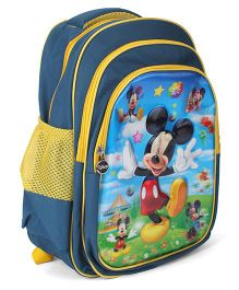 Disney Mickey Mouse School Bag Navy - 16.5 Inches