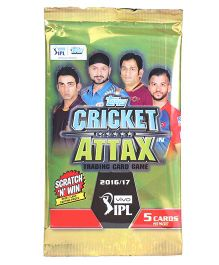 Topps IPL CA 2016 5's Flowpack Trading Card Game - Pack of 5