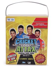 Topps Cricket Attax Trading Card Game IPL 2016-17 Carry Box