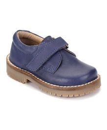 Teddy Toes Moccasins With Velcro Closure - Blue