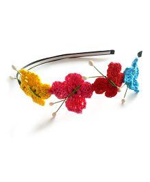 Soulfulsaai Butterfly Motif Hairband - Multicolor