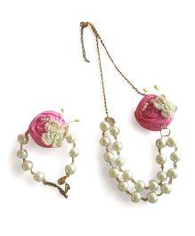 Soulfulsaai Pear Necklace & Bracelet - Pink