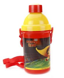 Mighty Raju Water Bottle Yellow Red- 500 ml