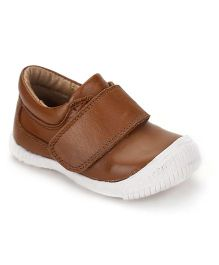 Teddy Toes Moccasins With Velcro Closure - Brown